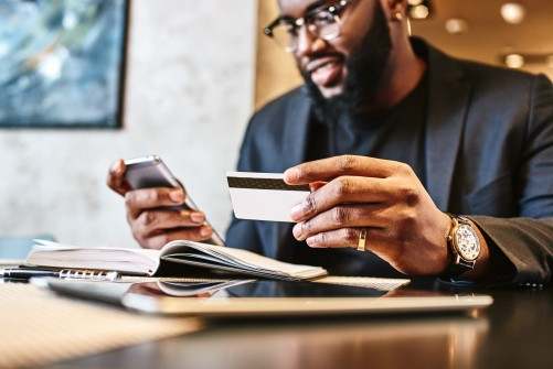 Making a payment with a credit card
